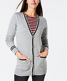 Charter Club Button-Front Cardigan, Created for Macy's