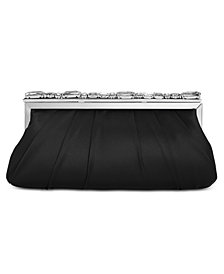 Adrianna Papell Satin Stone Clutch