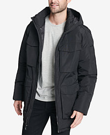 DKNY Men's Four-Pocket Full-Zip Hooded Parka, Created for Macy's