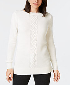 Karen Scott Bead-Embellished Sweater, Created for Macy's