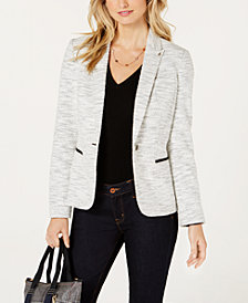 Tommy Hilfiger One-Button Elbow Patch Blazer
