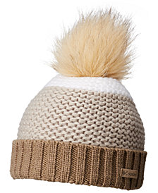 Columbia Holly Peak Faux-Fur-Pom Fleece-Lining Beanie