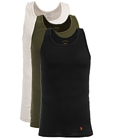 Polo Ralph Lauren Men's Classic Cotton Tank Top, 3-Pk.
