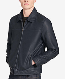 Tommy Hilfiger Men's Big & Tall Faux-Leather Jacket, Created for Macy's