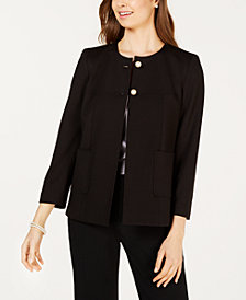 Nine West Faux-Pearl Button Jacket