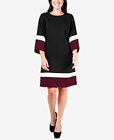 NY Collection Colorblocked Shift Dress