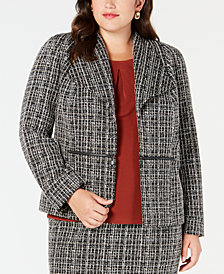 Kasper Plus Size Tweed Jacket