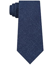 DKNY Men's Unsolid Solid Slim Silk Tie