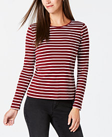 Charter Club Metallic-Stripe Top, Created for Macy's