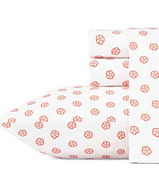 Trina Turk Fiorella Ladybug Orange Queen Sheet Set