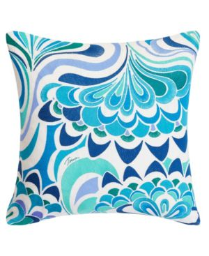 Trina Turk Avalon Lotus Aqua Square Pillow Bedding 6245792