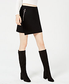 Bar III Asymmetrical Mini Skirt, Created for Macy's