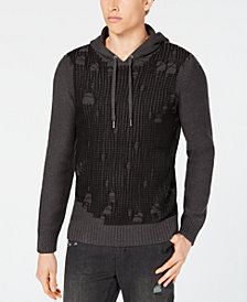 I.N.C. Men's Hooded Flatline Sweater, Created for Macy's