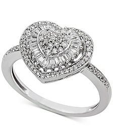Diamond Heart Cluster Ring (1/2 ct. t.w.)
