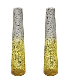 Lemon Ombre Snorkel Vases- Set of 2
