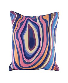 Vibrant Agate Pillow With Goose Down Insert