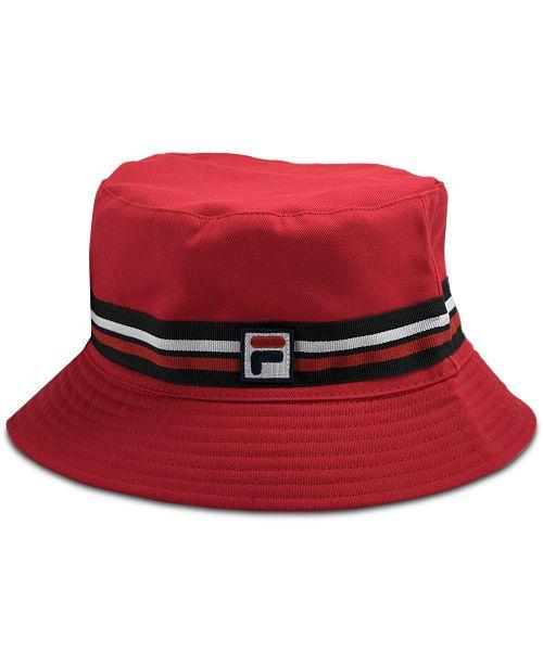 e3358ccc0b4 Fila Cotton Reversible Cotton Bucket Hat   Reviews - Women s Brands ...