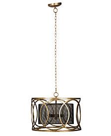 Vintage Glamour Gold Cylinder Iron Chandelier