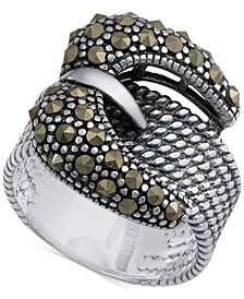 Marcasite Buckle Ring in Sterling Silver