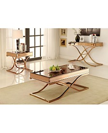 Xander 3pc Coffee Table Set, Quick Ship