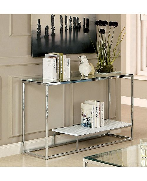Furniture of America Nadia Glass Top Console Table
