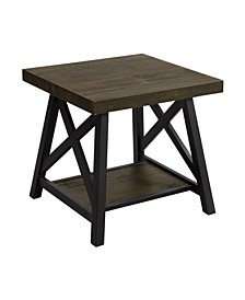 Bassa Industrial End Table