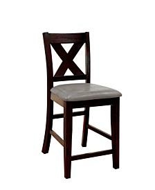 Elio Dark Walnut Pub Chair (Set of 2)
