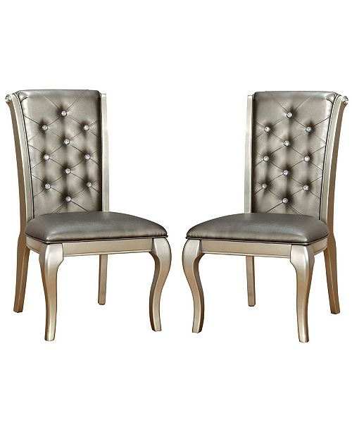 Furniture of America Sante Champagne Side Chair (Set of 2)