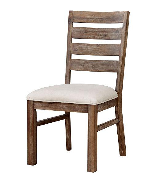 Furniture of America Carmella Natural Tone Side Chair (Set of 2)
