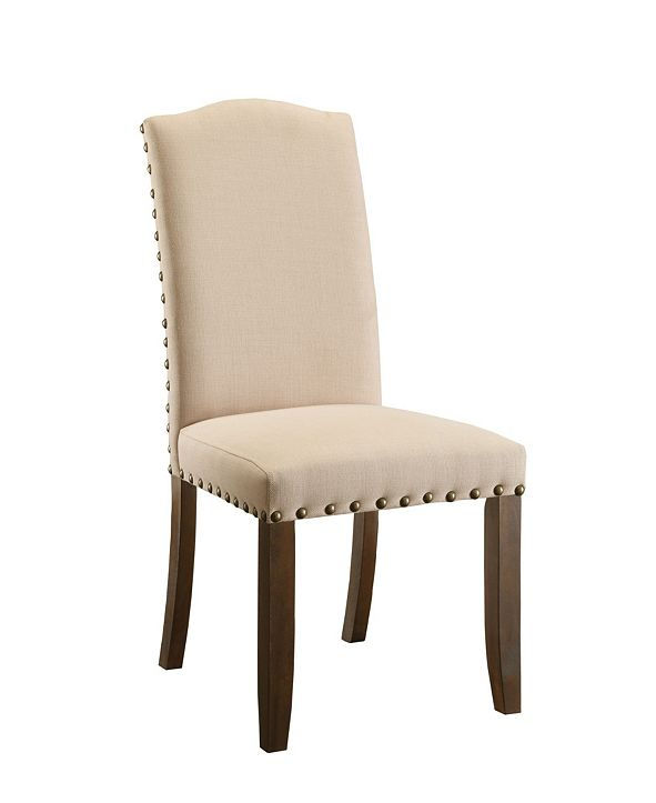 Furniture of America Weth Upholstered Dining Chair (Set of 2)