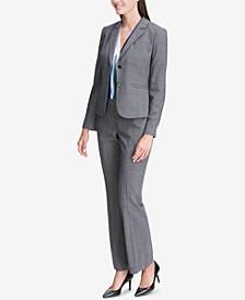 Glen Plaid Two-Button Jacket, Printed Shell & Modern Pants