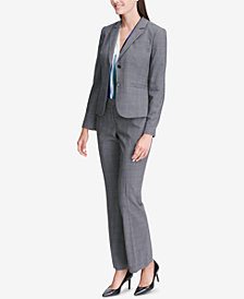 Calvin Klein Glen Plaid Two-Button Jacket, Printed Shell & Modern Pants