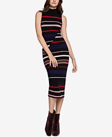 BCBGeneration Striped Asymmetrical Bodycon Dress