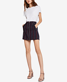 BCBGeneration Ruffled Striped Skirt
