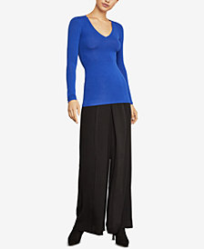 BCBGMAXAZRIA V-Neck Top