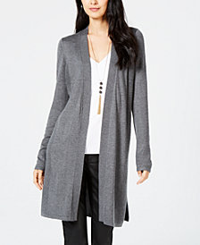 I.N.C. Ribbed-Side Open-Front Cardigan, Created for Macy's