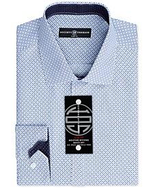Men's Slim-Fit Non-Iron Stretch Pattern Dress Shirt