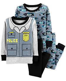 Carter's Baby Boys 4-Pc. Police Cotton Pajama Set