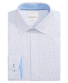 Con.Struct Men's Slim-Fit Stretch Dot Dress Shirt