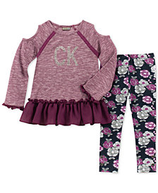 Calvin Klein Baby Girls 2-Pc. Sweater-Knit Tunic & Leggings Set