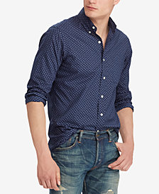 Polo Ralph Lauren Men's Dot Print Slim Fit Cotton Shirt