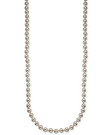 "Charter Club Silver-Tone Imitation Pearl Necklace, 42"" + 2"" extender, Created for Macy's"