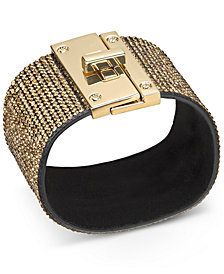 Thalia Sodi Gold-Tone Multi-Crystal Wrap Bracelet, Created for Macy's