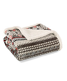 Eddie Bauer Sycamore Dark Brown Throw