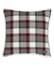 Wallace Plaid Cinder Square Pillow