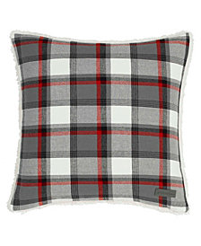 Eddie Bauer Wallace Plaid Cinder Square Pillow