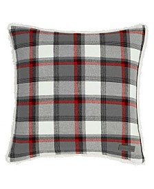 Eddie Bauer Wallace Plaid Cinder Square Pillow