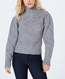 GUESS Beaded Mock-Neck Sweater