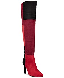 Carpio Colorblocked Over-The-Knee Boots