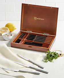 Wüsthof Stainless 8pc Steak Knife Set in Walnut Chest, Created for Macy's